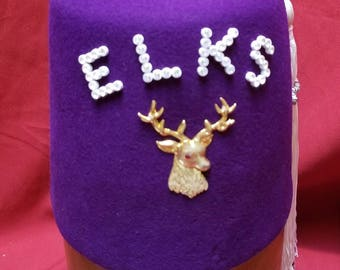 "Rare Art Deco Elks Lodge  ""FEZ"" ~ BPOE ~ Size 53 Benevolent and Protective Order of Elks"