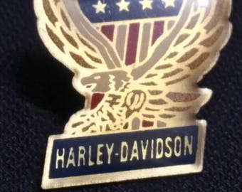 Harley Davidson , vintage crystal pin . for your collection !!
