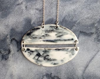 Galatea Necklace - Porcelain and sterling silver