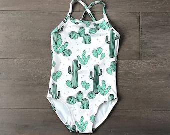 Girls Cactus Swimsuit