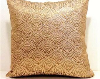 Metallic Gold Pillow Covers,Gold Throw Pillows,Gold Pillow,Metallic Pillow,Couch Pillows,Brocade Pillow,Sparkle Pillow