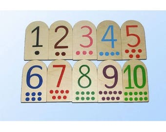 Dominoes with numbers large - Learning Toy - Montessori toddler toy - Toddler birthday gift - Wooden toy - Educational toy