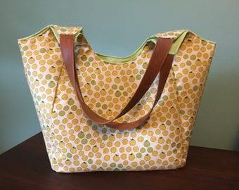 Tote Market Fruit Orange Fabric Bag