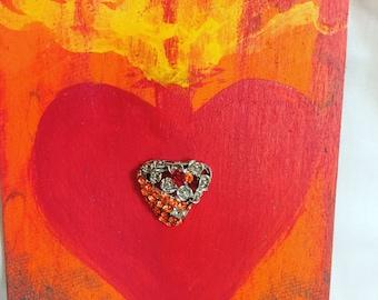 Red Jewel heart