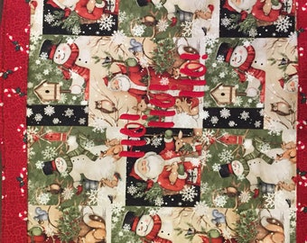 Santa Personalized placemats, Santa monogrammed placemats, Santa placemats