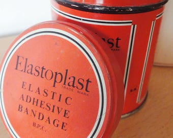 Vintage Elastoplast Medical Plaster Bandage Tin Box