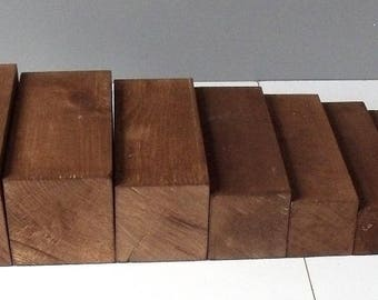 Brown stair Montessori beech