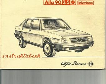 Alfa Romeo 90. Alfa Novanta. Original Instruktieboek in Dutch.