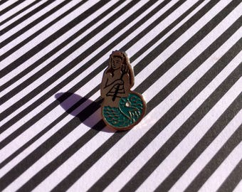 "Enamel pin ""Mermaid"" Retro Vintage 90's"