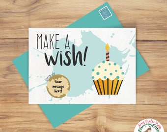 Custom Scratch-Off Card Birthday Card - perfect for trip reveal or pregnancy announcement! Scratch off birthday card, trip reveal card