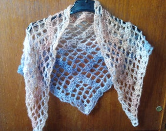 Very soft and airy crochet scarf shawl