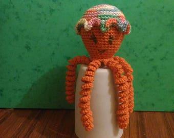 squid Octopus crochet blanket, octopus, model girl Octopus, premature