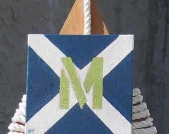 """Signal Flag """"M"""" nautical print"""