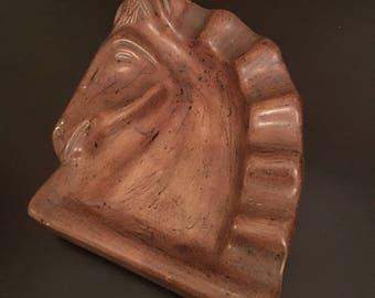 Vintage Ceramic Horse Ashtray