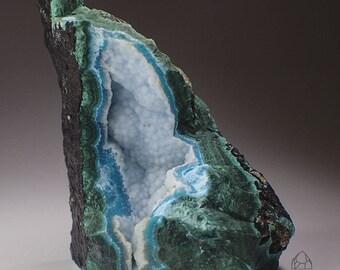 Malachite and Chrysocolla Crystal Specimen, Democratic Republic of the Congo
