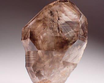 Brandberg Lustrous Smoky Phantom Quartz Crystal with Amethyst, Goboboseb Namibia
