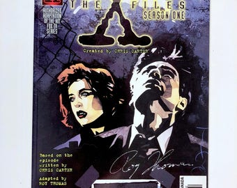 X-Files Signed Deep Throat Comic, Season One, Roy Thomas, Certificate Authenticity, Hologram Seal, Numbered, Mint. Truth Is Out There