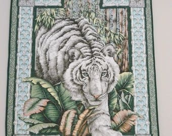Tiger Wall Hanging / Small Quilt