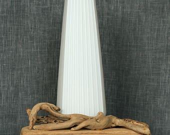 Lampe d'ambiance en verre et bois flotté