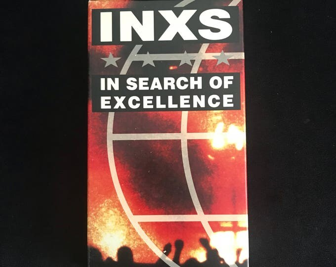 INXS In Search of Excellence 1990's Vintage Movie VHS