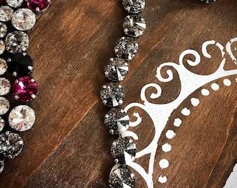 Swarovski Crystal Bracelet in Black Patina