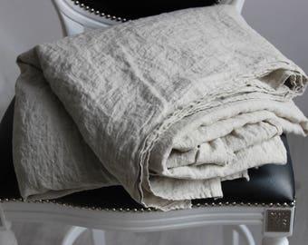 Organic Linen Flat Sheet 100% Flax Natural Organic Eco-Friendly Flat Bed Sheet Twin XL Full Double Queen King CalKing Pure Linen Bedding