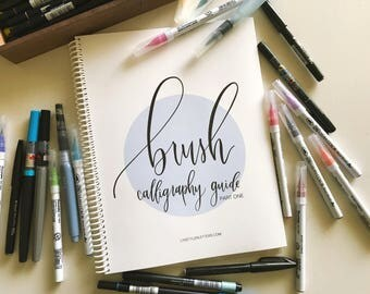 Brush Calligraphy Guide - Part One | Learn Brush Lettering | Calligraphy Tutorial | Brush Pen Practice