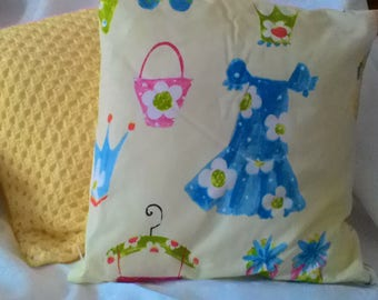 "Girls print cushion 16"" by 16"""