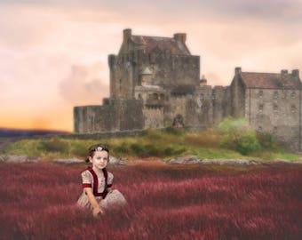 Castle digital backdrop, digital background, INSTANT DOWNLOAD!