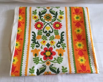 Vintage Vibrant Retro House-n-Home Cotton Fabric