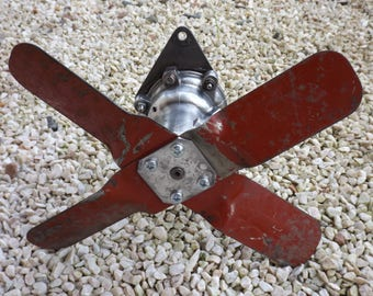 Car SIMCA dovetail 1950 / fan SIMCA vintage water pump / decor industrial metal 1950