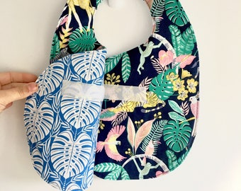 Crossover Reversible Bib - Jungle