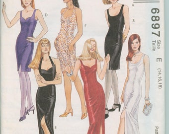 McCall's Pattern 6897 - Misses Dress in Two Lengths  (size 6, 8, 10)
