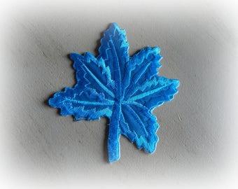 1 patch fusible patch / applique turquoise Acorn 10 * 9 cm