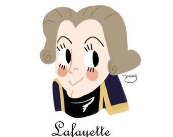Marquis de Lafayette mini 4x6 prints