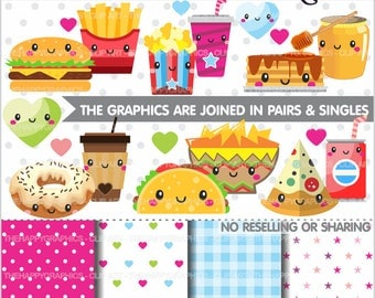 Food Clipart, 80%OFF, Food Graphic, COMMERCIAL USE, Planner Accessories, Perfect Pair, Valentine Graphics, Valentine Clipart, Love Clipart