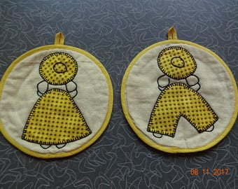 Cute Mr. and Mrs. potholders