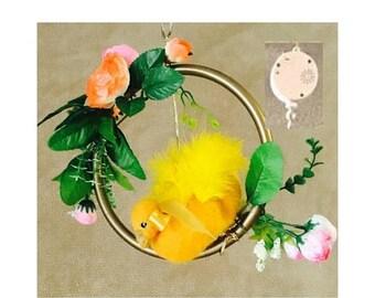 ON SALEcij 20% off Crib Mobile, Fluffy Duck Musical Nursery Decor. Needle Felted Mobiles. PLUS BONUS Cot Attachment!