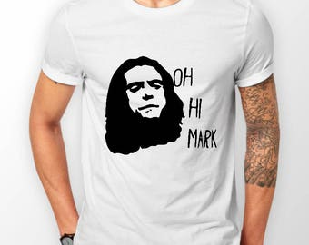 Mens Designer Oh Hi Mark Printed Cotton White T-Shirt