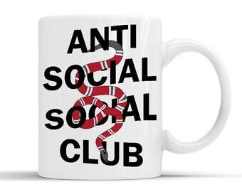 New Designer Anti Social Social Club White Mug