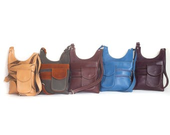 Rico Soft Handmade Lambskin Leather Crossbody Bag