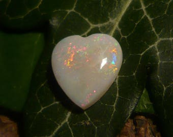 Opal Cabochon, 2.25ct Heart-shaped Australian Opal