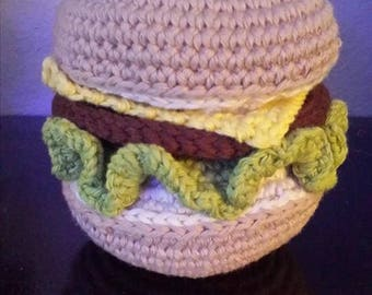 Hamburger for dinette crochet