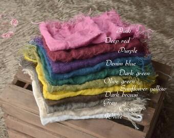 Burlap in vibrant colours!Hessian,rustic jute layer,natural basket stuffer,neutral wrap,blanket,newborn,sitter photo prop