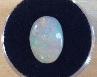 Colorful Australian Opal Oval Cut Cabochon Large 14x10mm Loose Natural Genuine White Opal Gemstone B261