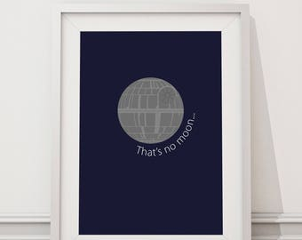 Star Wars - That's No Moon Quote Minimal Style Poster Print