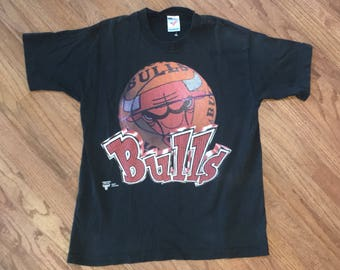 Vintage 90s Chicago Bulls NBA T Shirt Size Medium