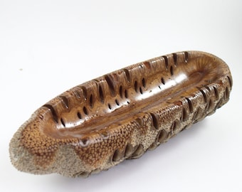 Xmas gift -banksia wooden ornament, wood bowl, wooden bowl, natural ornament, ornament, wood fruit bowl, australian gift,banksia