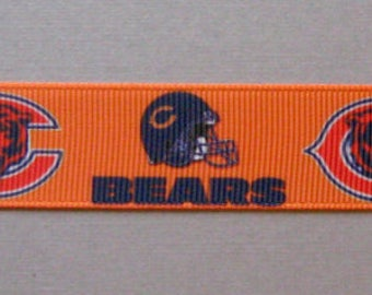 "Chicago Bears Dog Collar - Side Release Buckle (1"" Width) - Martingale Available"