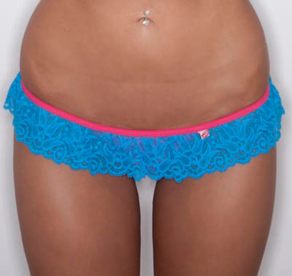 50% off SALE ***maneaterSTYLE *** MissManeater TAINTEDLOVE lace frill skirt T-bar boutique bikini pant *** Thong cut!